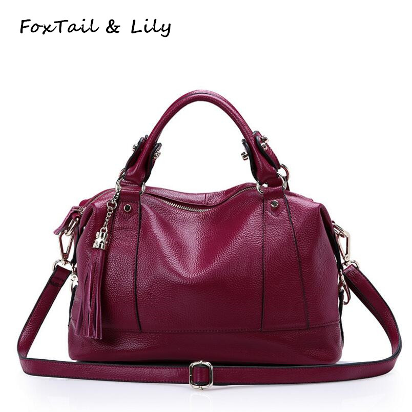 FoxTail & Lily Fashion Tassel Designer Luxury Handbags Women Famous Brands Real Leather Crossbody Woman Bag Ladies Shoulder BagsFoxTail & Lily Fashion Tassel Designer Luxury Handbags Women Famous Brands Real Leather Crossbody Woman Bag Ladies Shoulder Bags