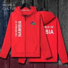 Namibia NAM Namibischen NA mens vliese hoodies sweatshirt winter zipper strickjacke trikots männer jacken und mantel trainingsanzug kleidung