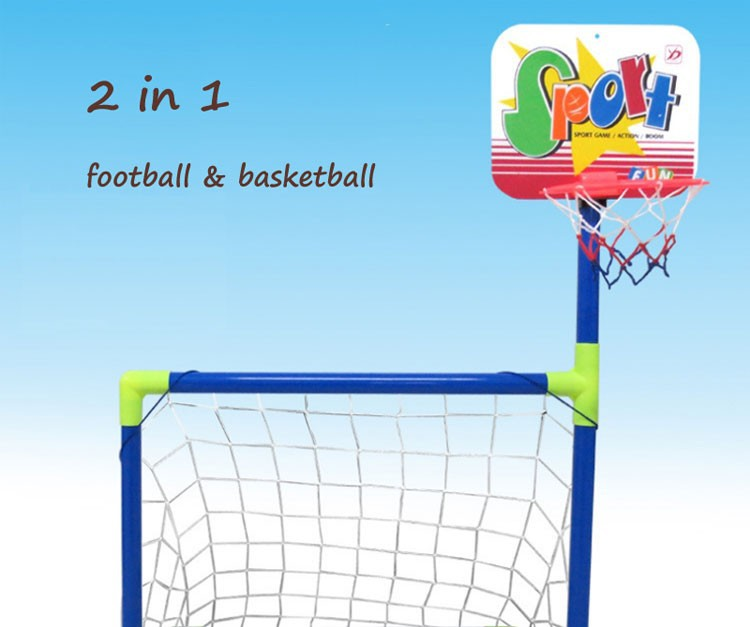 28fd85f753a78c Removable assembly football Children Soccer Goal Indoor outdoor toy  Educational Fitness Toys Basketball Bracket Combo