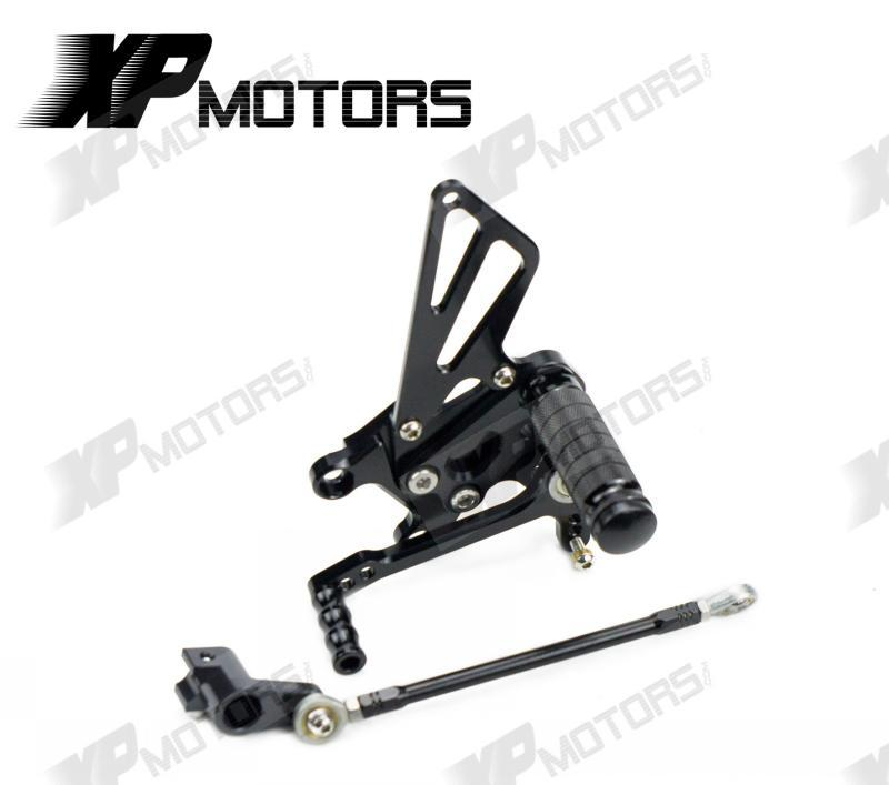 Racing Adjustable Rearset Rear Sets Foot pegs For Aprilia RSV4 R 2009 2010 2011 2012 2013 2014 Black