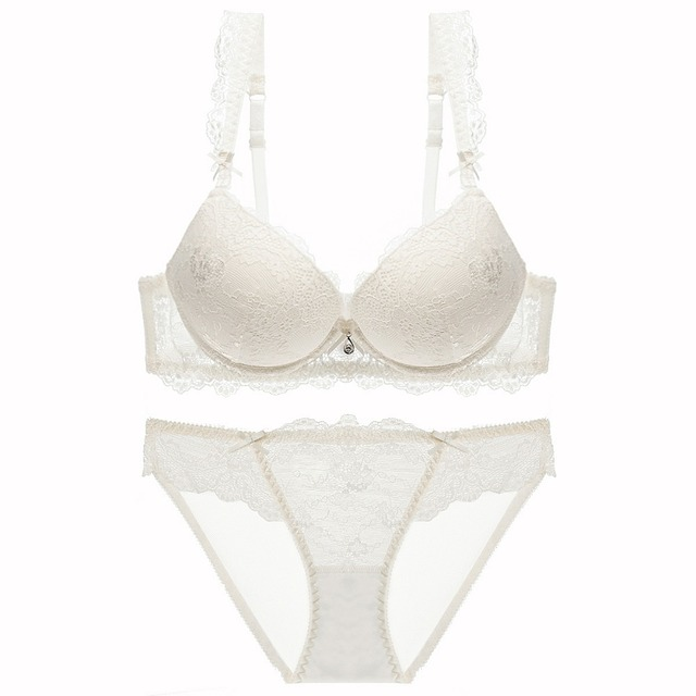 56e1ec80a7ce8 New Europe Girl sexy lace bra set gather adjustable underwear sets for women  A B C Cup
