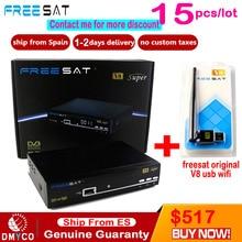 Freesat V8 Super HD Satellite Receiver digital tv conversor for Spain Poland Netherlands PayTV DVB-S2 Satellite Receiver Full HD