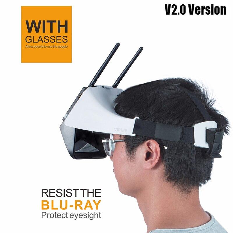FXT الافعى 5.8G التنوع HD FPV نظارات مع DVR المدمج في المنكسر ل RC الطائرة بدون طيار نماذج Multicopter الغيار الملحقات-في قطع غيار وملحقات من الألعاب والهوايات على  مجموعة 1
