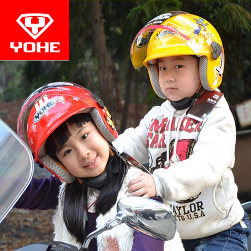 2017 Summer New YOHE children Half Face motorcycle helmet child electric bicycle helmets made of ABS and PC lens visor YH859S