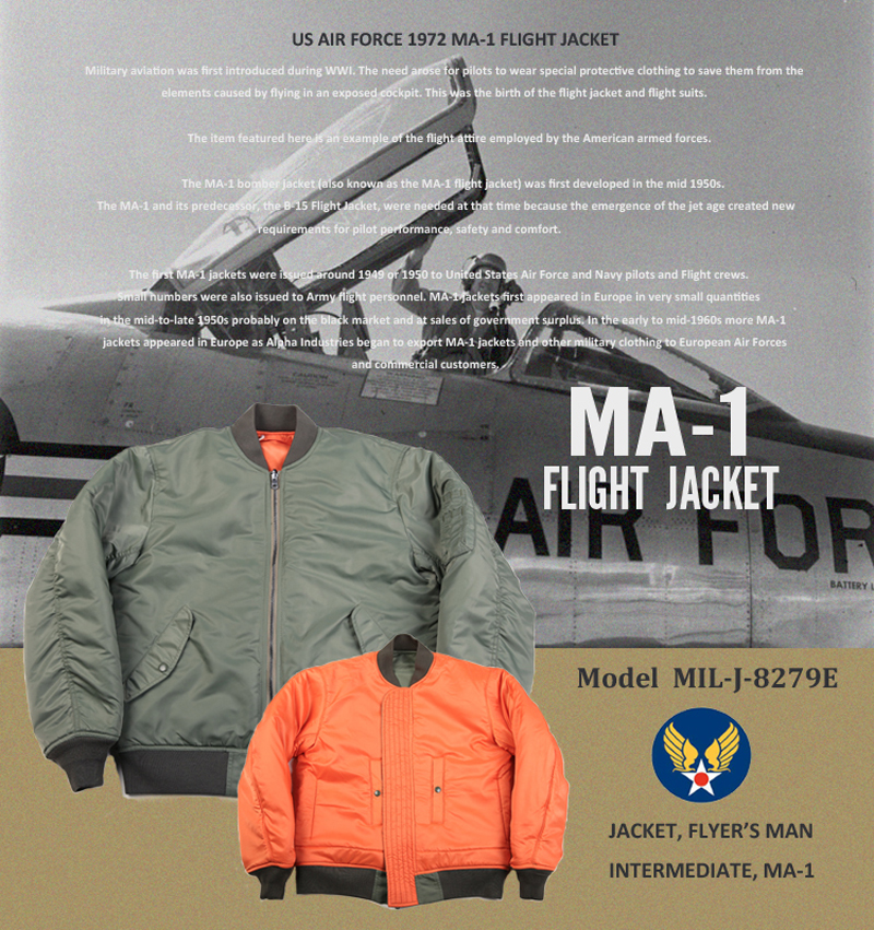 NON STOCK Retro 1972 MA-1 Flight Jacket Reversible US Air Force Bomber Coat Thick