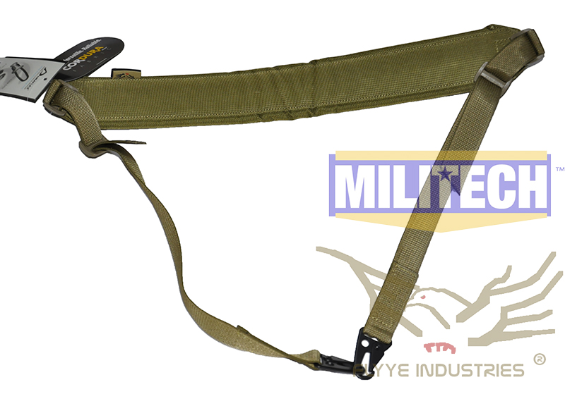 Militech Military Spec Khaki KH Machine Gun Tactical Safety LMG Single Point Sling FLYYE FY-SL-S006 LMG Single Safety Sling fire maple sw28888 outdoor tactical motorcycling wild game abs helmet khaki