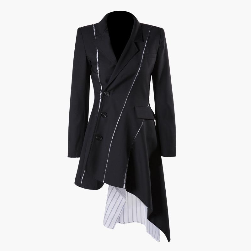 SuperAen Europa moda mujer vestido 2019 primavera nuevo vestido de algodón de manga larga Mujer costura rayas salvaje ropa-in Vestidos from Ropa de mujer    2