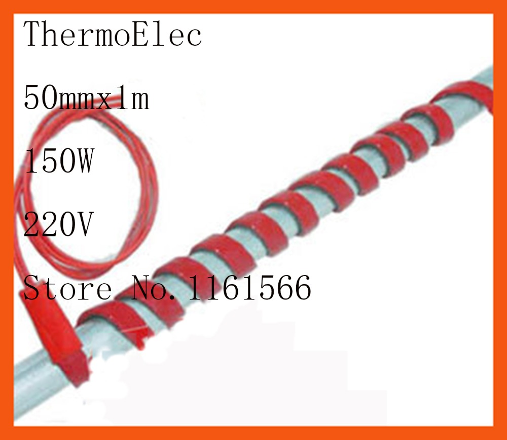50mmx1000mm 150W 220V High quality flexible Silicone Heating belt heat tracing belt Silicone Rubber Pipe Heater waterproof 15mmx3m 240w 220v high quality flexible silicone heating belt heat tracing belt silicone rubber pipe heater waterproof electric