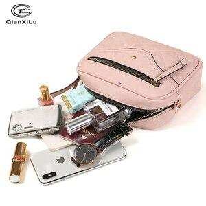 Image 4 - QIANXILU модные сумки через плечо для женщин 2019, вместительная сумка на плечо, сумка из искусственной кожи, женские сумки мессенджеры на молнии