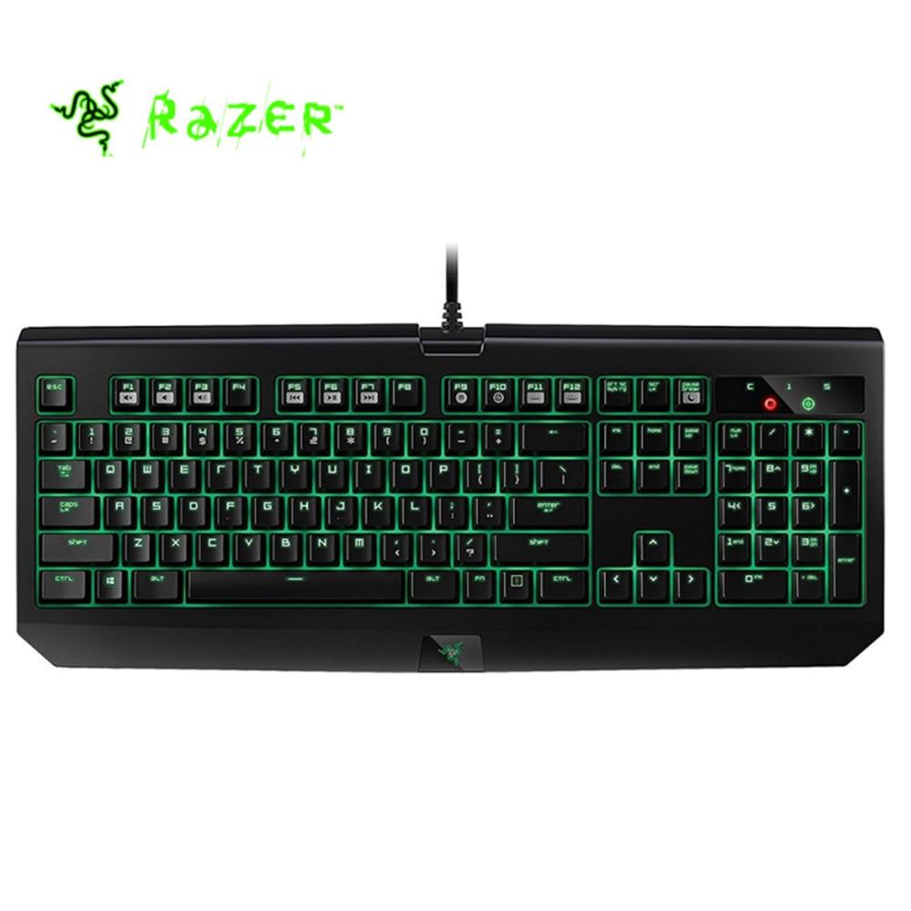 Razer Blackwidow Ultimate 2016 Wired Gaming Keyboard 104 Keys Backlit Programmable Green Switches Mechanical Game Keyboard