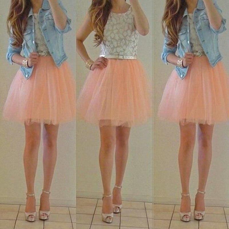 Pink Tulle Skirt Womens - Skirts