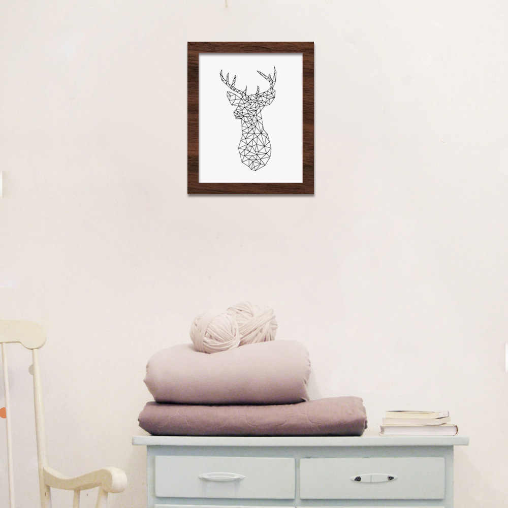 Wall Art Unframed Wall Pictures for Living Room Animal Print Minimalist Nordic Line Style Drawing Abstract Quadro Poster Art