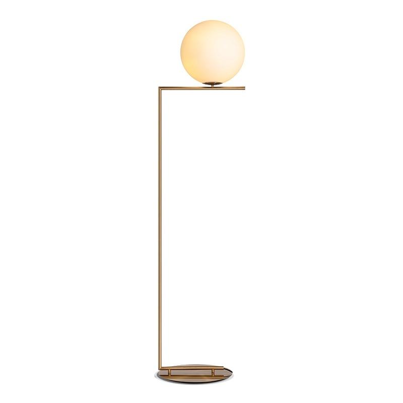 Nordique boule de plancher en verre lampes art or corps Ballon Rond Stand lampe Pour La Maison Déco Matériel Vertical Éclairage Intérieur E27 Étage Ligh