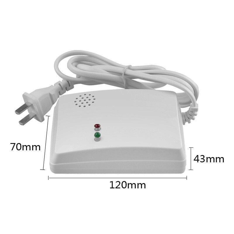 GZGMET Včasný 85 dB detektor úniku plynu Hlasový alarm Vysoce citlivý zkapalněný přírodní uhlí pro kuchyňskou a těžební oblast