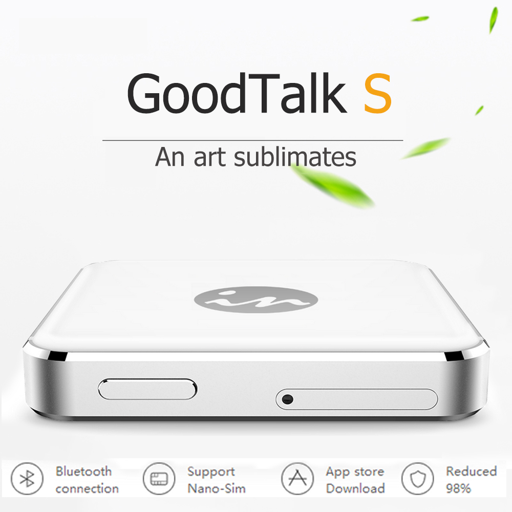 imágenes para Bluetooth multi dual 2 adaptador de tarjeta sim doble modo de espera sin jailbreak para iphone6//6 plus/6 s/6 s plus/5/4 ios 7-10 gmate goodtalk s