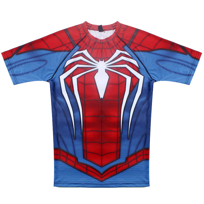 spider man short sleeve compression t shirt comicstoy. Black Bedroom Furniture Sets. Home Design Ideas