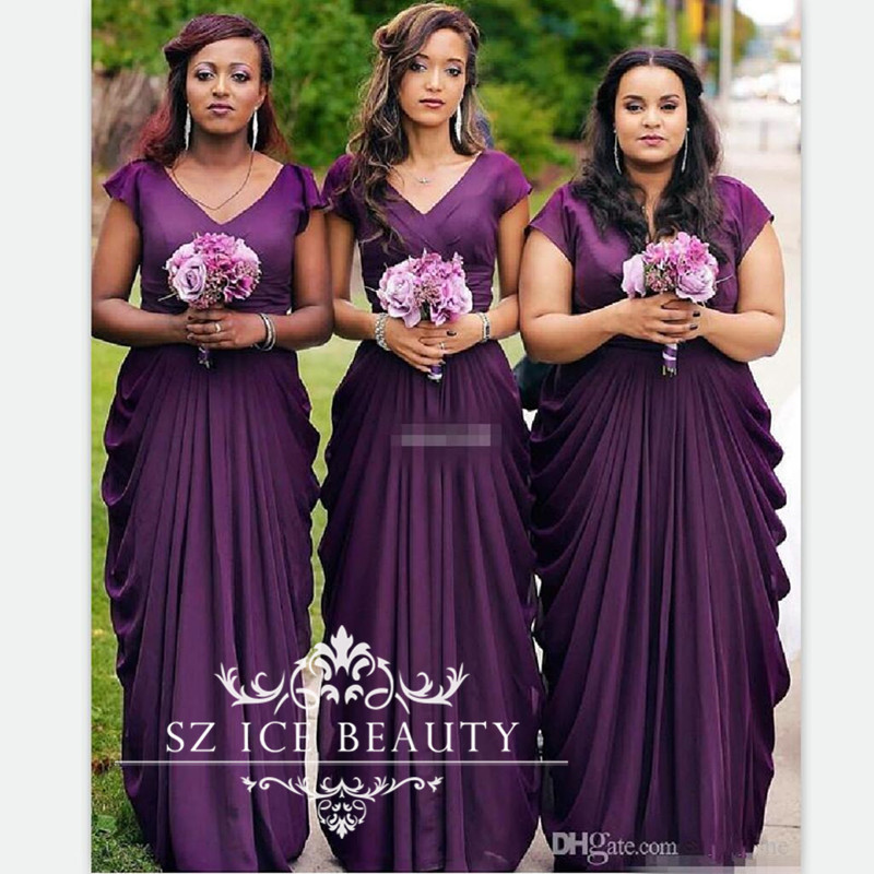 Online Get Cheap Bridesmaids Dresses with Short Sleeves under 100 ...