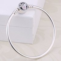 100 925 Sterling Silver Trefoil Hearts Sterling Silver Deluxe Zircon Jewelry Pandora Bracelets Women S Gifts