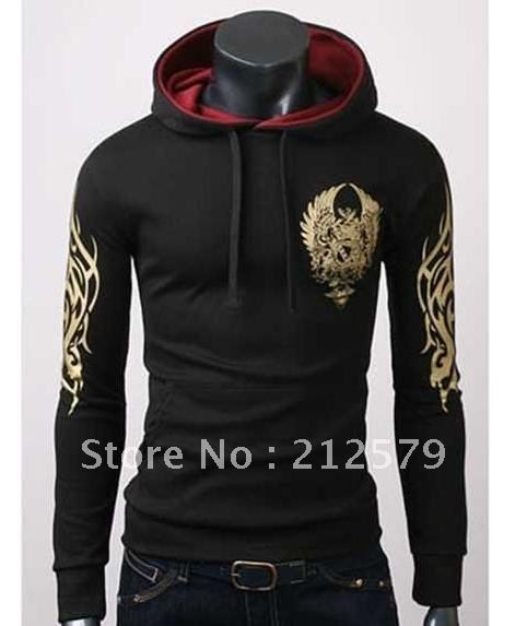 Fashion printing Korean hats red lined hood head sets sweater ...