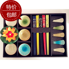 On Sale! Creative Japanese Tableware Ceramic Dishes Sushi Tableware Chinese  Wind Sushi Set With Gift Box