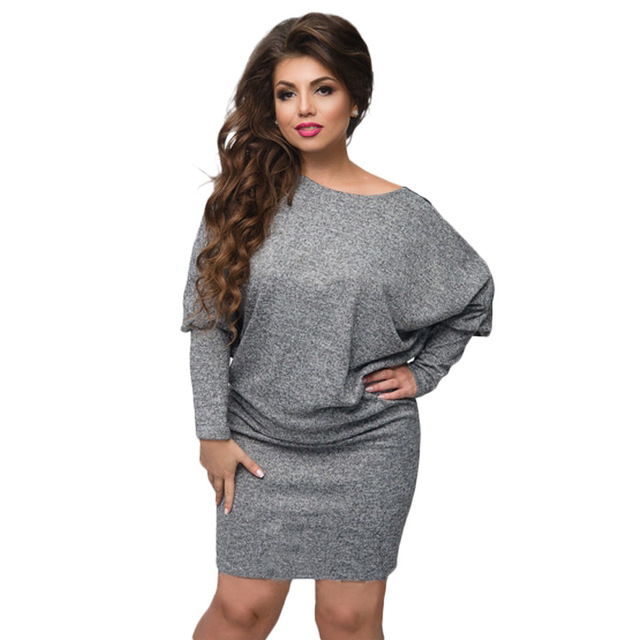 Big size 6XL 2018 Spring Women Lace Dress Loose batwing sleeve patchwork  dresses plus size Fat 5c267bc4cf1c