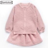 Sanlutoz Winter Children Clothing Set Girls Sport Suit Flower Girl Clothing Toddler 2017 New Autumn Long Sleeve Brand Set 2 PCS
