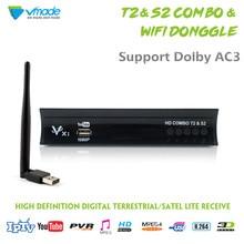 Vmade Full HD цифровой DVB T2 S2 комбинированный спутниковый ресивер наземного ТВ тюнер H.264 MPEG-2/4 1080 P Поддержка AC3 CCCAM IP ТВ + WI-FI