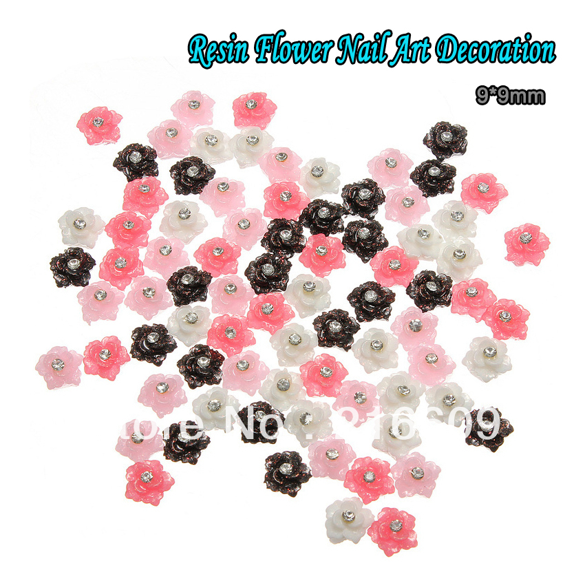 Wholesale nail supply 100pcs lot mixed 4 colors acrylic for Acrylic nail decoration supplies