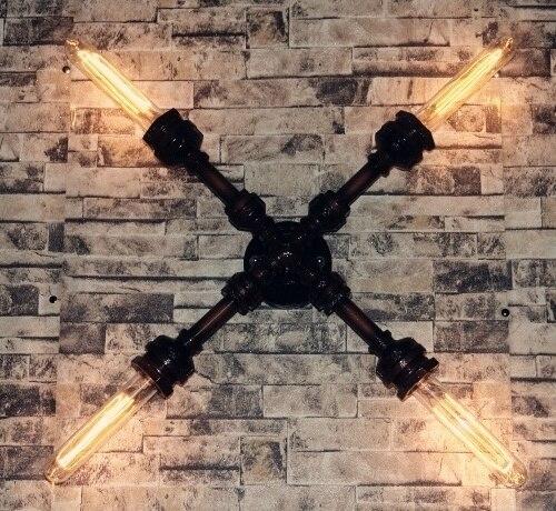 Лофт Винтаж настенный светильник персонализированные водопровод бра бар Утюг водопровод бра домашнего Освещение