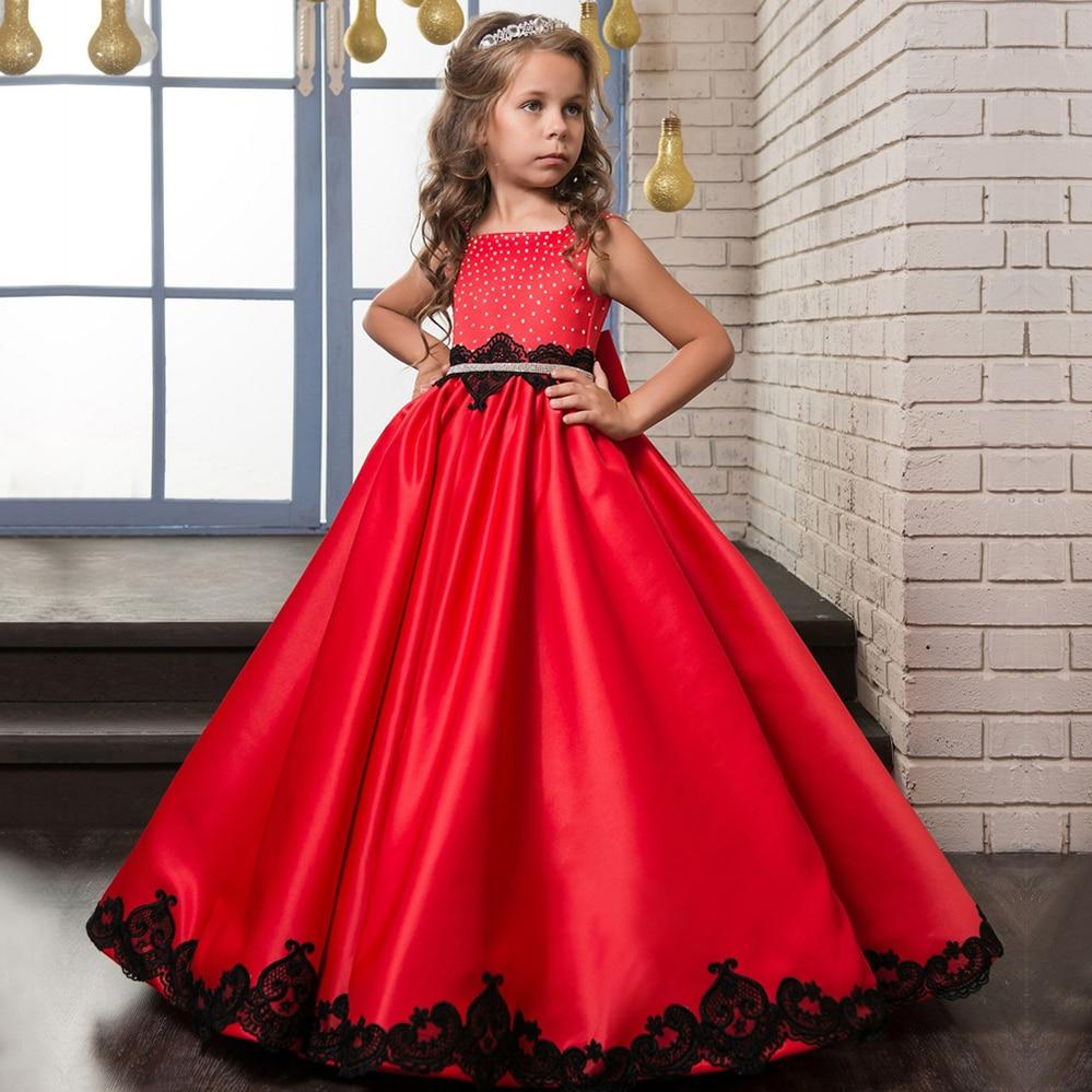 Baby Kids Bridesmaid   Flower     Girls     Dress   Wedding Party   Dresses   Children Princess   Dress   Teenage   Girls   Clothing 6 8 10 12 14 Year