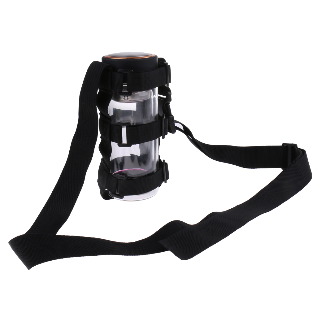 Nylon Cycling Water Bottle Carrier Holder /& Shoulder Strap Universal Fit