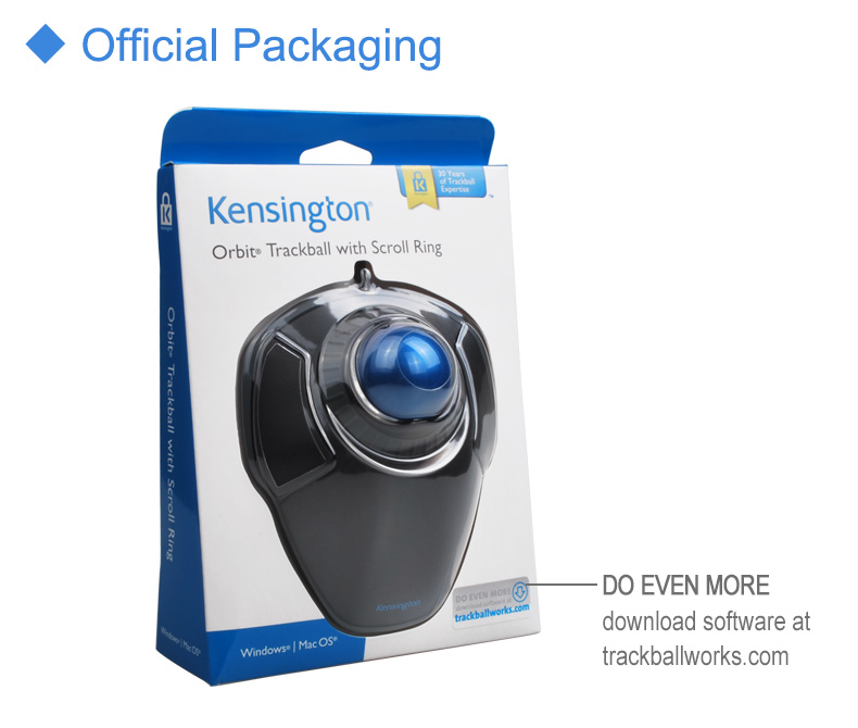 Image 5 - Kensington Original Orbit Trackball Mouse with Scroll Ring Optical USB for PC or Laptop with Retail Packaging K72337-in Mice from Computer & Office