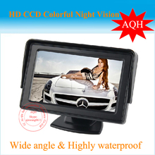Free Shipping 4.3 inch TFT Color car monitor  rear view monitor car monitor 2CH AV Input for a Reversing Camera