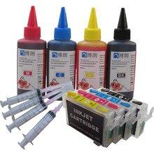 מילוי דיו ערכת T1281 Refillable מחסנית דיו עבור EPSON Stylus S22/SX125/SX130/SX230/SX235W/SX420W/SX425W SX430 מדפסת דיו צבע