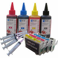 T1281 Refillable ink cartridge for EPSON Stylus Stylus S22/SX125/SX130/SX230/SX235W/SX420W/SX425W SX430+ for EPSON Dey ink 400ML