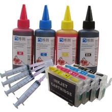 리필 잉크 키트 T1281 엡손 스타일러스 S22/SX125/SX130/SX230/SX235W/SX420W/SX425W SX430 프린터 염료 잉크 용 리필 잉크 카트리지