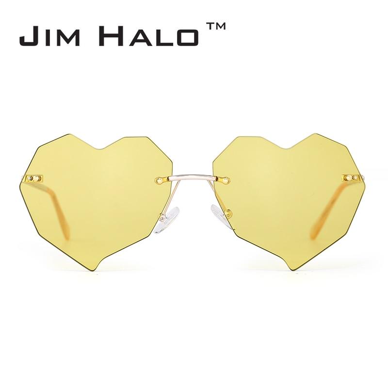 Jim Halo Heart gafas de sol sin montura mujeres irregulares claro - Accesorios para la ropa
