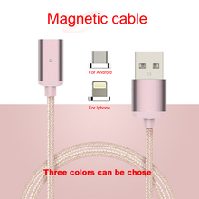 GARAS Magnetic Fast Charger Braided Double Use USB Cable For Iphone 6 For Xiaomi Android Fast Charging Magnetic Cable CX-2