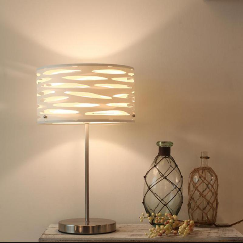 Style nordique PVC papier étude lampe de bureau bureau Led table lumière lampe de travail lampe de travail abajursalon chambre E14 led lampe de lecture