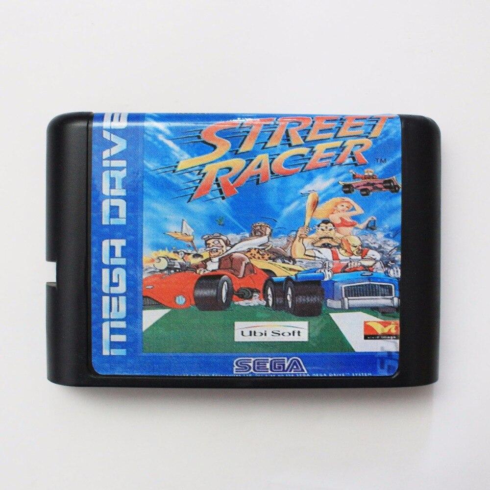 Street Racer 16 bit MD Game Card For Sega Mega Drive For Genesis