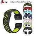 Pasek do zegarka pasek sportowy dla Garmin Fenix 5X/5 XPlus/6X/3 HR/D2 Bravo inteligentny bransoletka do zegarka pasek 26mm silikonowy szybkie dopasowanie nadgarstek
