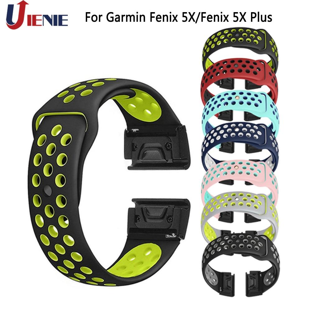Watchband Sport Strap For Garmin Fenix 5X /5XPlus/6X/3 HR/D2 Bravo Smart Watch Bracelet Band 26mm Silicone Quick Fit Wristband