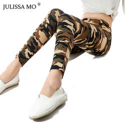 JULISSA MO камуфляж печати облегающие штаны-карандаш для женщин осень 2018 г. пикантные низкая талия узкие леггинсы повседневное клуб Брюки