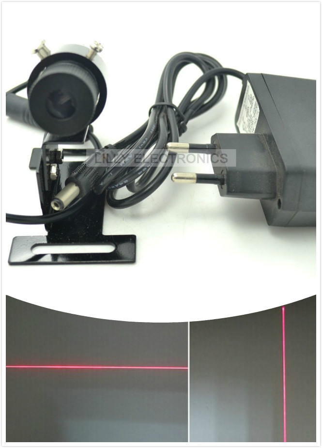 650nm 100 mW Rouge Laser Line Module Locator 22x70mm w/Radiateur et Europe Plug