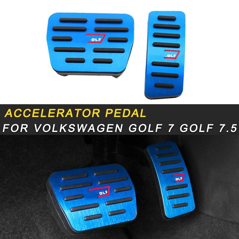 Для Volkswagen Golf 7 Golf 7,5 автомобильный Стайлинг акселератор Отдых педаль тормоза крышка обрезная рамка аксессуары для интерьера