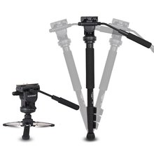 YUNTENG VCT-588 Tripod Monopod Extendable Telescoping with Detachable Tripod Stand Base Fluid Drag Head for Camera Camcorder