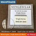 Настольный стеклянный одинарный колпачок из минерального стекла толщиной 1 2 мм диаметр 20 мм ~ 40 мм каждый размер x 2  всего 82 шт.