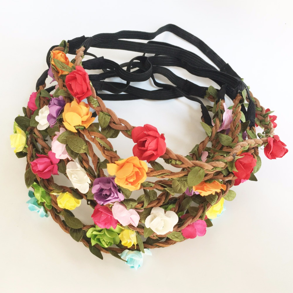 Online shop 9 pcslot kids girl fashion bohemian flower crown online shop 9 pcslot kids girl fashion bohemian flower crown floral garland hair bands for girls bohemian hair bands a028 2 aliexpress mobile izmirmasajfo