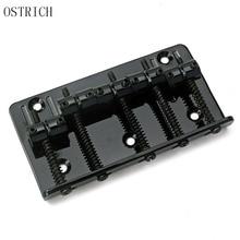 New Popular Free Shipping Ostrich Black 5 String Saddle Bass Guitar Bridge 2017 New Stle