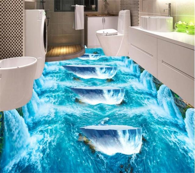 Beibehang Custom Falls Water Glacier 3d Floor Tiles